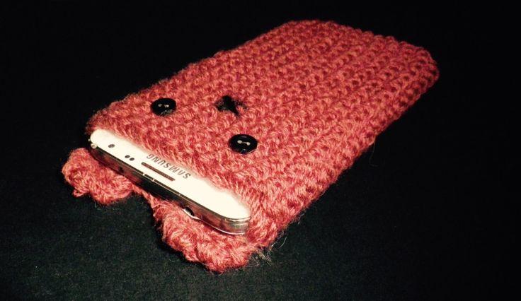 Pochette de portable en Tricot Kawaii