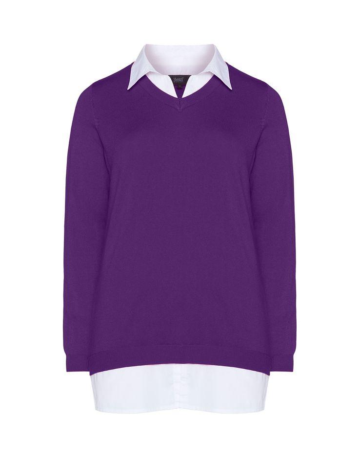 ZHENZI - 2-in-1 collared shirt jumper - navabi