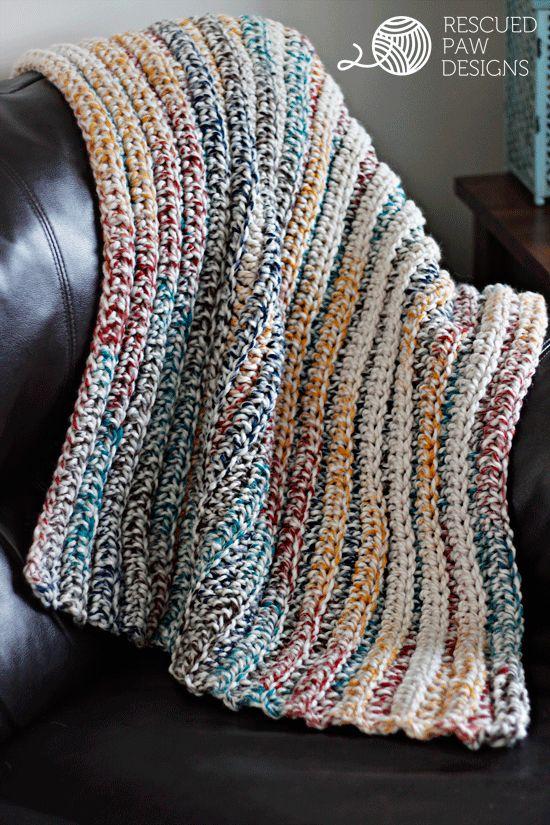 Free Crochet Baby Blanket Pattern Bulky Yarn : Chunky Crochet Blanket Free Pattern Ideas Free pattern ...