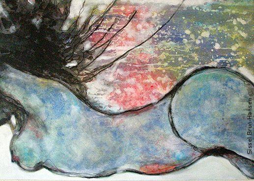 Flow - Acrylic on Canvas, 100 cm x 70