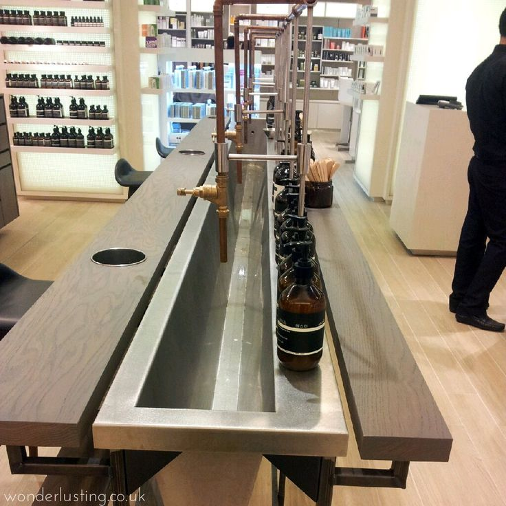 sink counter | at aesop shop | london