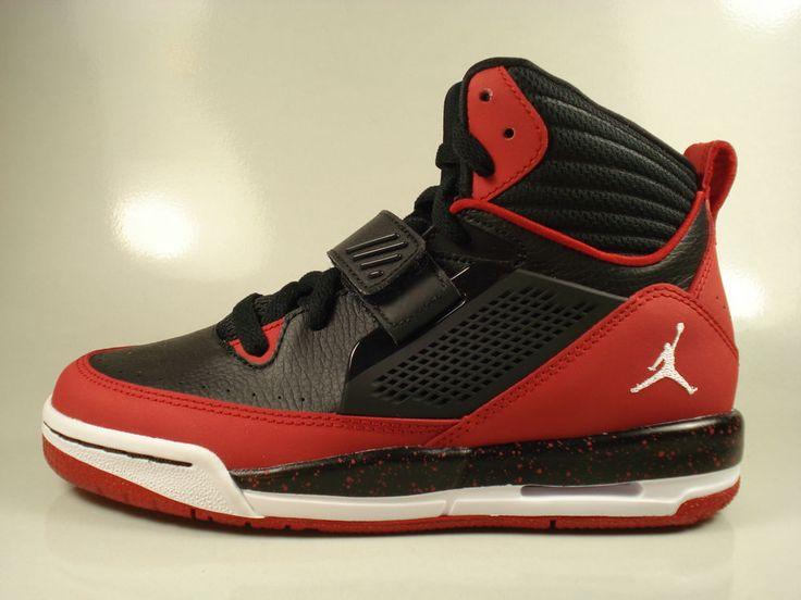 Air Jordan Flight 97 (GS) [Black / Gym Red / White] (654978-002) Boys