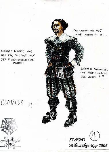 Sueño (Clotaldo). Milwaukee Repertory Theater. Costume