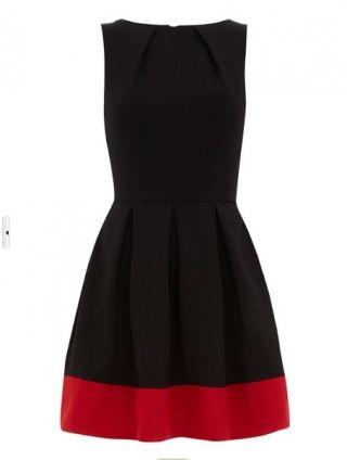 Black Red Boat Neck Sleeveless Back Zipper Dress pictures Sukienki Sukienki koktajlowe SheInSide czarny