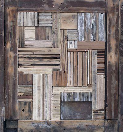 """David Cass / 2010 Sculpture """"Wooden Construction II"""""""