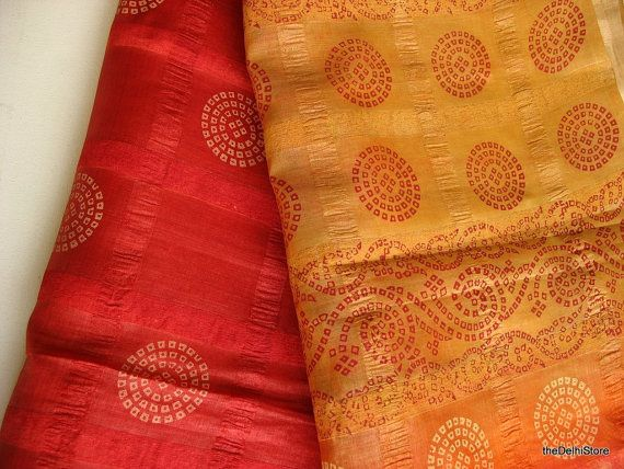 Silk Saree  / Vintage Indian Sari Fabric  by theDelhiStore on Etsy