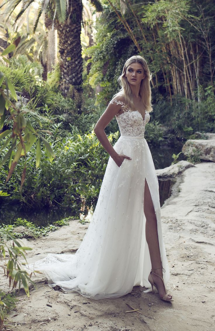 Stunning Off The Shoulder Floaty Ted Skirt With Embellished Lace Detail Wedding Dress Beaded And