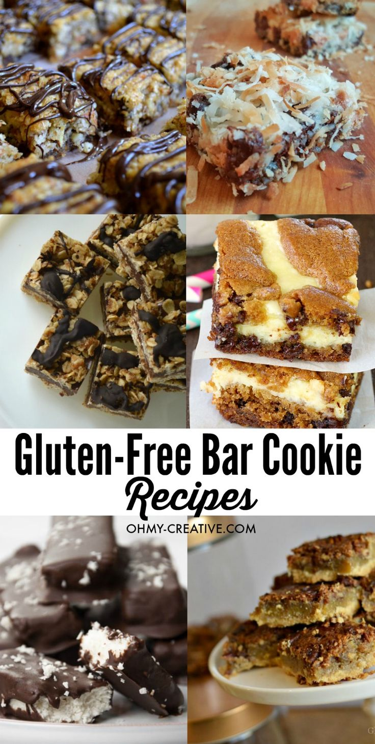 These gluten-free cookie recipes are delicious bar cookies for those with gluten intolerance or those choosing to eat gluten-free. Tasty gluten-free dessert