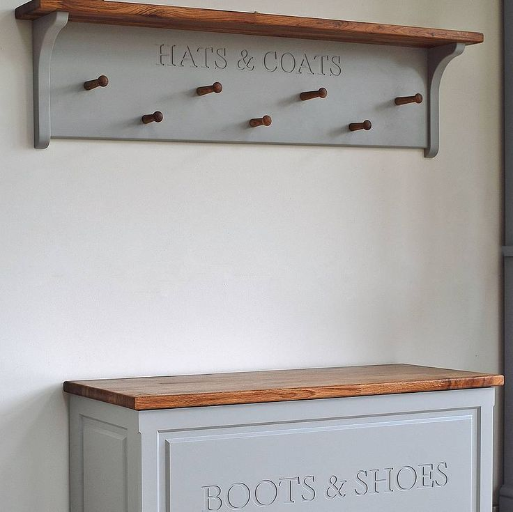 hat and coat rack available in three sizes by chatsworth cabinets | notonthehighstreet.com If only I had the space to organise!