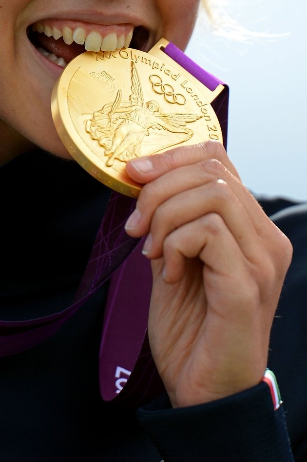 Olympics Quiz: 12 questions from the '12 Games  12) How much is a gold medal from the London Games worth?  644. Our own Martin Rogers looked into it and found out that bronze medals have been valued at only 4.71. Silvers are worth around 322.   (Photo by Lars Baron/Getty Images)