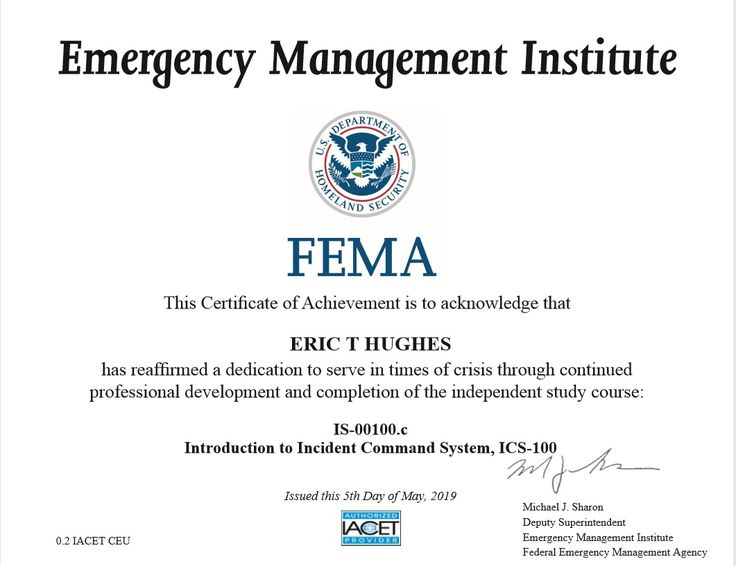 Intro to ics100c emergency management right to