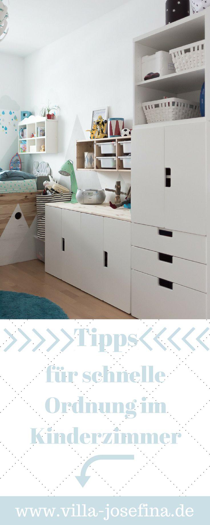 Schnelle Ordnung im Kinderzimmer. Wie wir gemeinsam aufräumen und die Ordnung halten. Alle Tipps findet ihr dazu auf meinem Blog Villa-Josefina.de