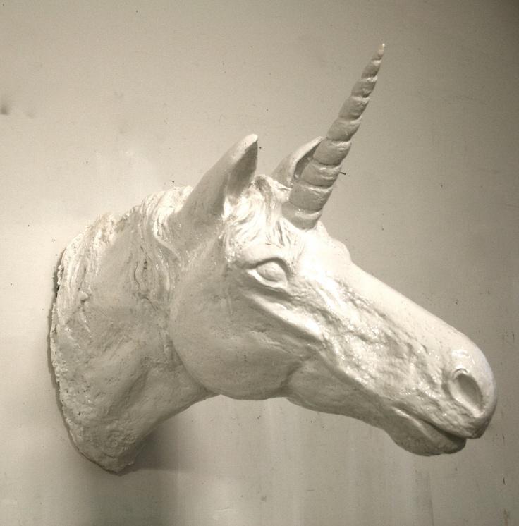Unicorn sculpture modern home decor faux taxidermy unicorn head animal head wall