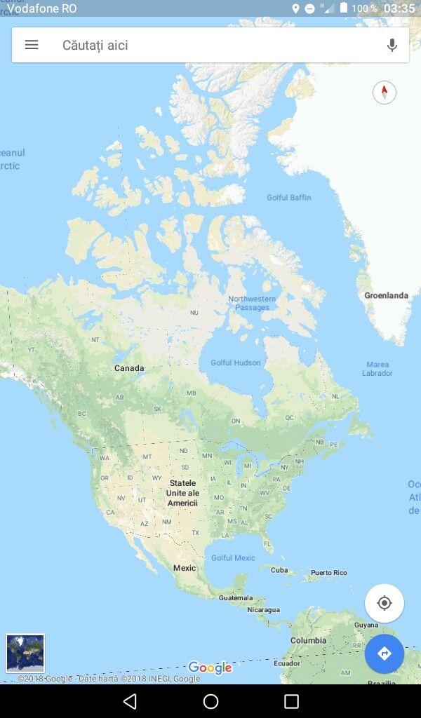 America De Nord Hartă