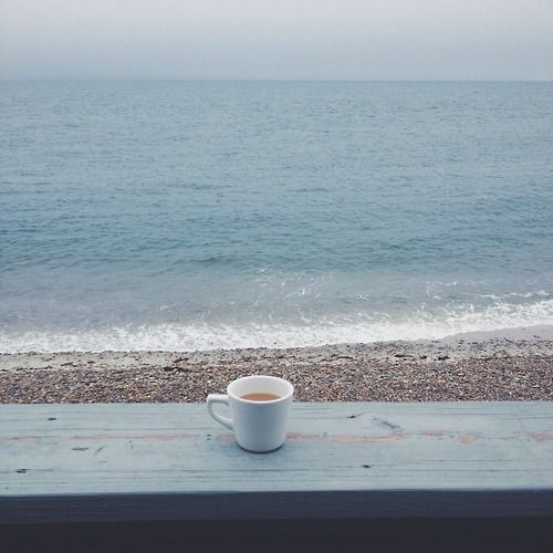 ~Un caffè con vista mare~ one of the very best ways to have a coffee...