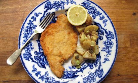 The perfect wiener schnitzel. Photograph: Felicity Cloake for the Guardian