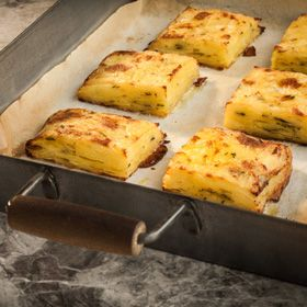 Potato Pavé, a recipe from ATCO Blue Flame Kitchen's Holiday Collection 2014 cookbook.