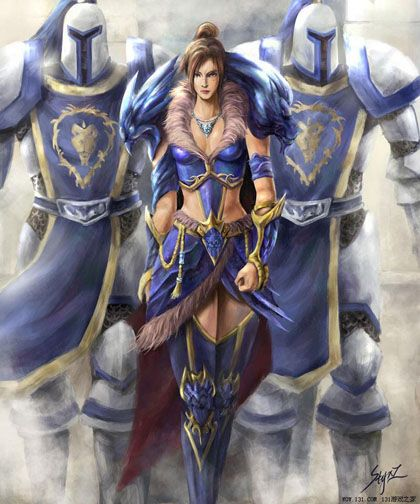Stormwind Guard. World of Warcraft Art.