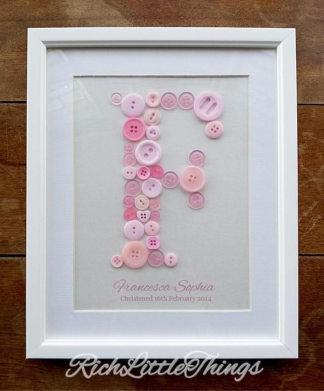 'Name in a Frame' Medium - New Baby - Christening - 1st Birthday Gift £12.00