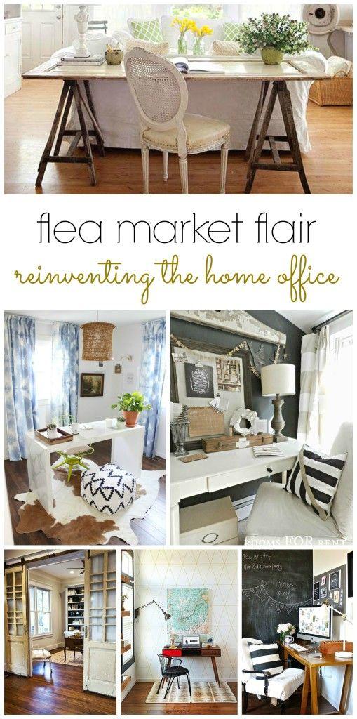 Flea Market Home Decor: Flea Market Flair- Reinventing The Home Office