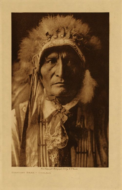 "Standing Bear~Ponca Native American chief who successfully argued in U.S. District Court in 1879 in Omaha that Native Americans are ""persons within the meaning of the law"" and have the right of habeas corpus. ~Wiki."