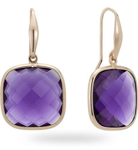 Orecchino in argento rosso 925 con 30.00 ct. di ametista di sintesi - Zoccai 925 #violet #silver #earrings