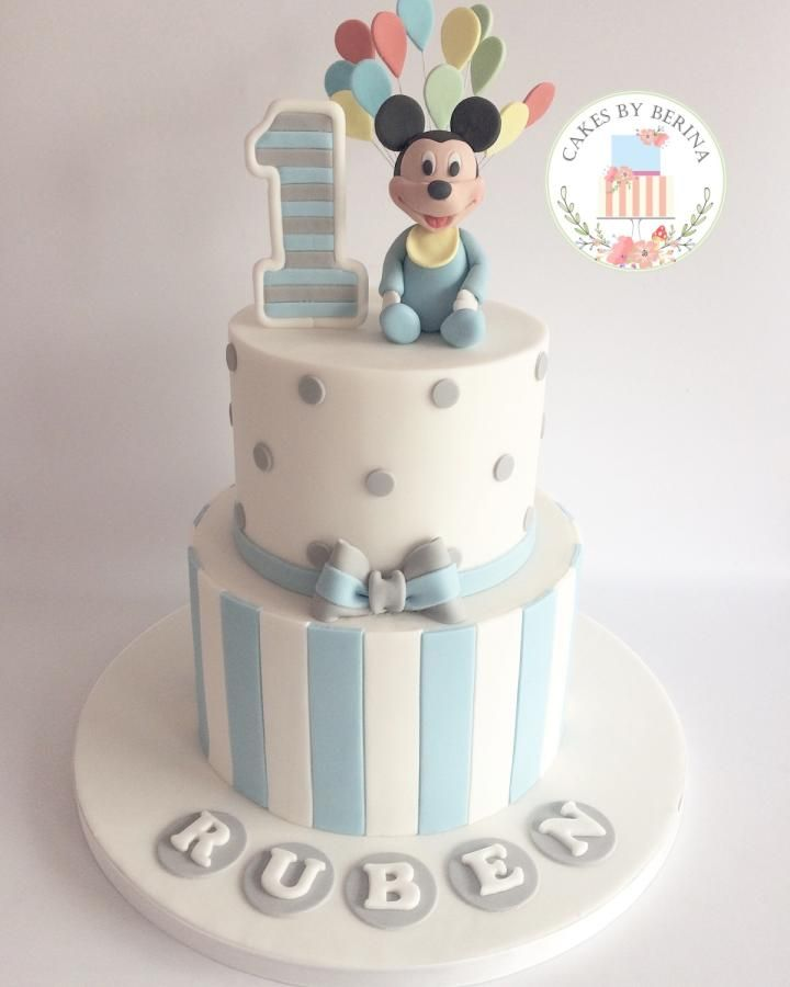 Baby Mickey Mouse Cake - Cake by Cakes by Berina