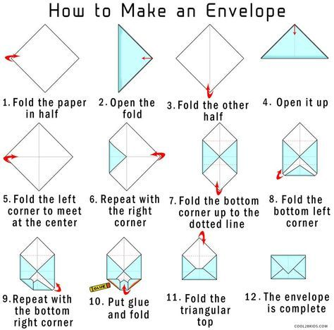 How to Make Your Own Origami Envelope from Paper | Cool2bKids