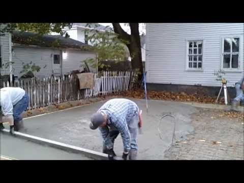 Pour a concrete slab how to video about pouring a garage for How to pour a concrete slab for a garage