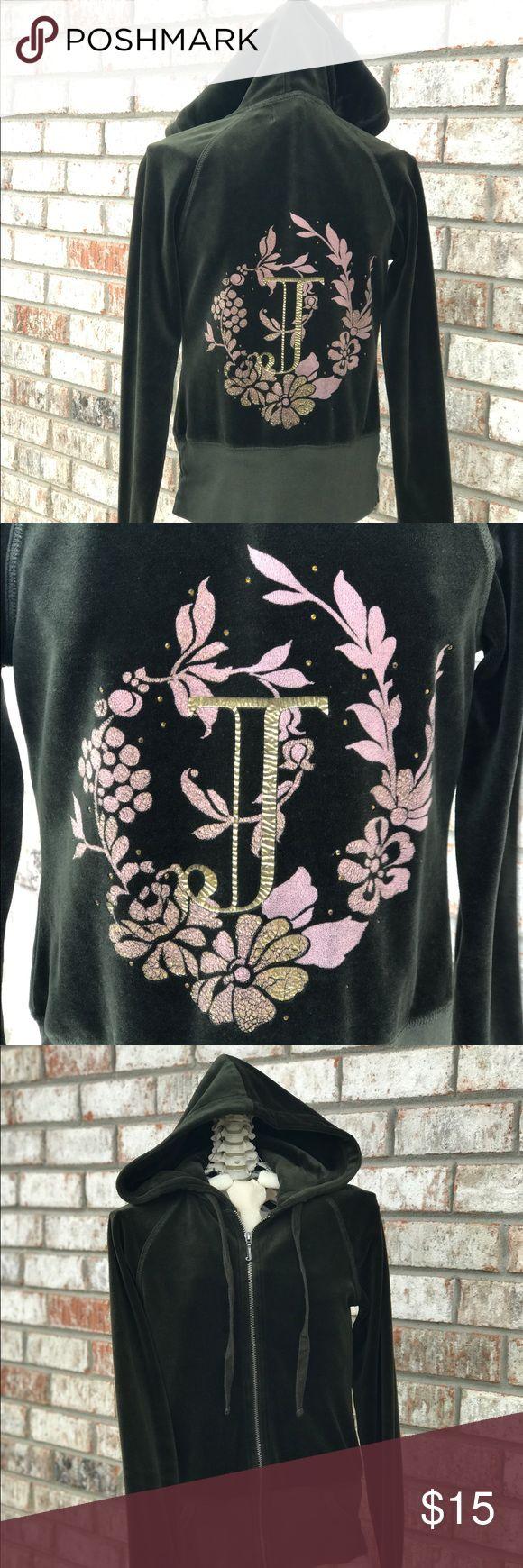 Juicy Couture green velour Jacket Dark green tack jacket.  Size Small Juicy Couture Tops Sweatshirts & Hoodies