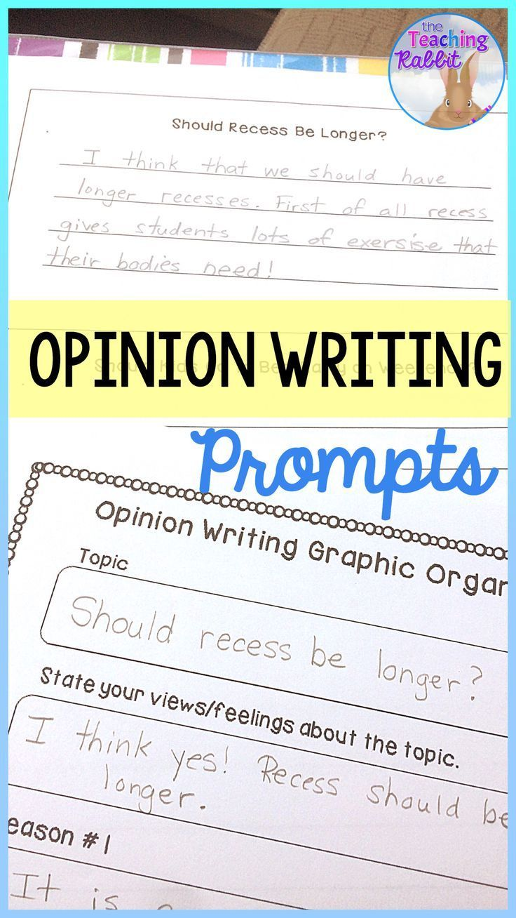 Use these prompts to guide students through writing an opinion piece. Great for second and third grade! #opinionwriting