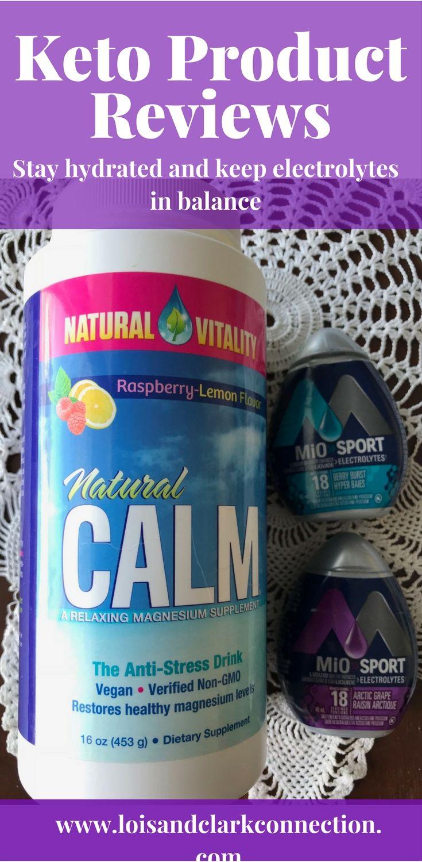 Natural Calm, magnesium supplement and Mio Sport water enhanser keep