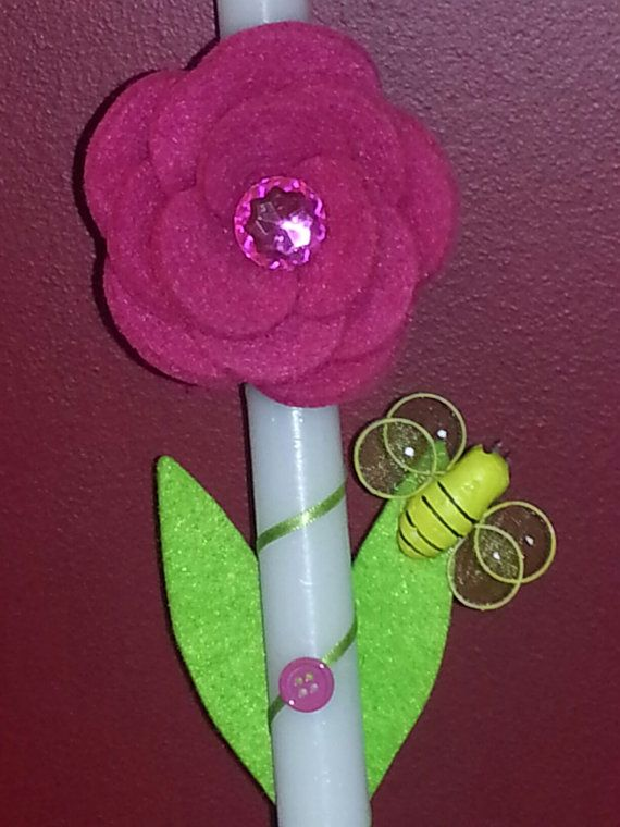 Orthdodox Flower hair clip Easter Candle / by YiannasAngels, $20.00