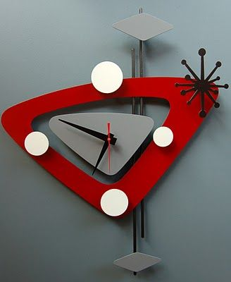 mid century mania: FUN ATOMIC CLOCKS