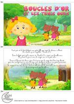 Conte illustré de Grimm Boucles d'or et les 3 ours