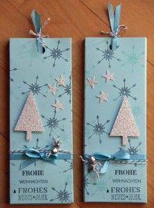 Eisfarbig Ziehschokolade glitzer Weihnachten Tannenbaum stanze stampin up verpackung