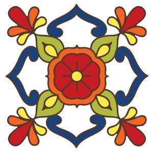 Floral Tile Coaster