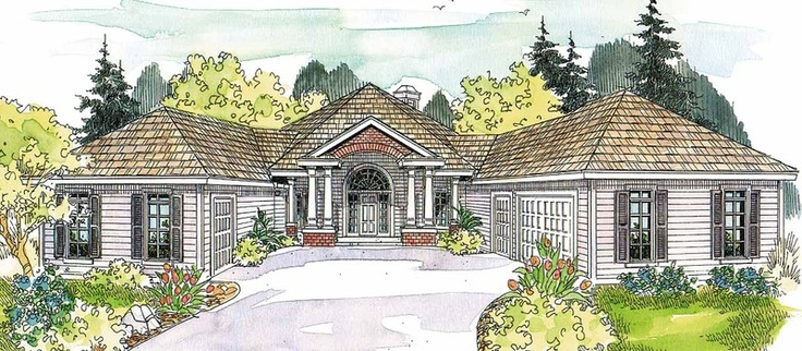 1000 images about house plans on pinterest plan front for House plans with great room in front