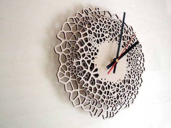 Giraffe Clock Medium Unique Wall Clock Laser Cut Wood