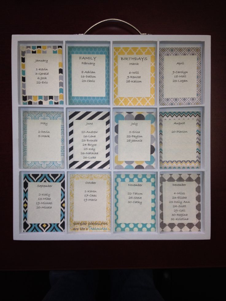 Calendar Ideas Photo : Ideas about birthday calendar craft on pinterest