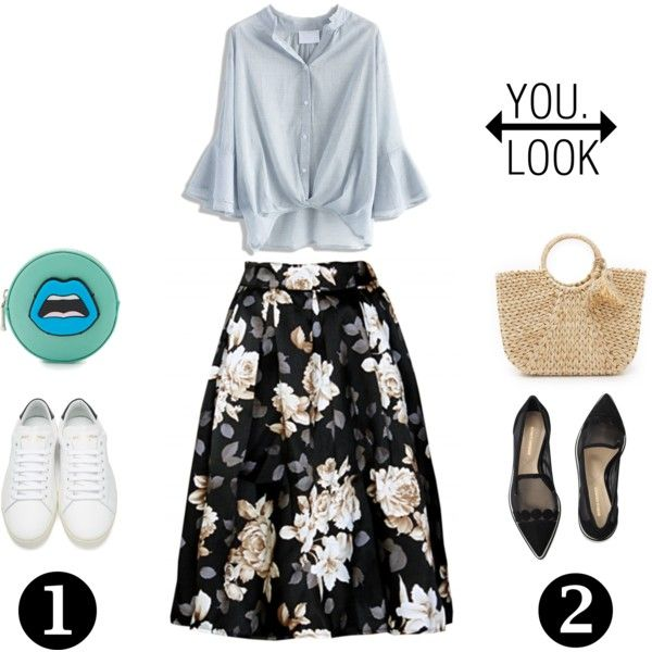 YOU Look by alcalams on Polyvore featuring Chicwish, Yves Saint Laurent, Nicholas Kirkwood, Yazbukey and Hat Attack