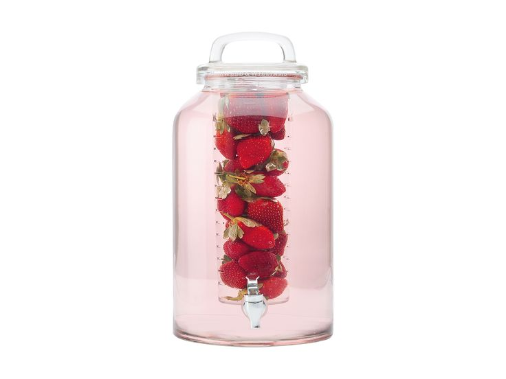 A contemporary alternative to traditional juice jars, this 8.5L Dispenser with Infuser is perfect for iced teas, fruit cocktails and summer entertaining #maxwellandwilliams #dispensers #juice #cocktails #summer #entertain #serveware