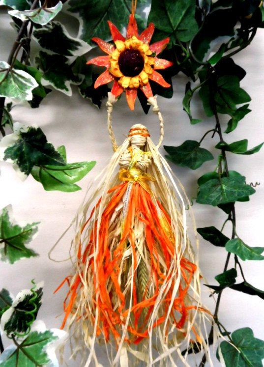 Litha/ Lammas Corn Dolly Goddess. Handmade in Wiltshire. Pagan Sabbat Decoration. by PositivelyPagan, £16.95