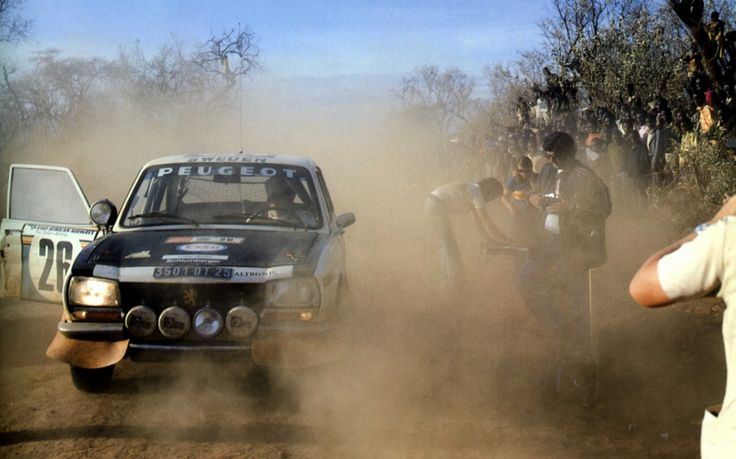 Peugeot 504 & Andersson -1- 1975 winners East African Safari Rally.