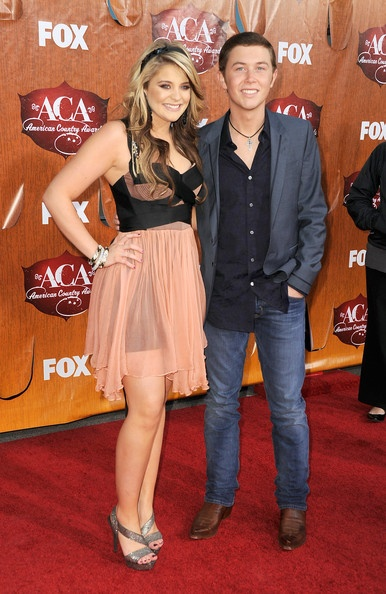 Lauren Alaina and Scotty McCreery <3 them and her dress too :]