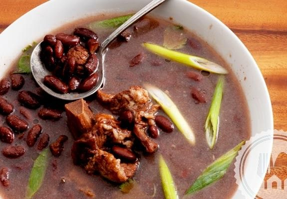 BEEF BRENEBON SOUP Fully cooked red beans and beef ribs with cloves and other spices, make this soup very thick, rich and so flavoursome. Enjoy it while it's warm.