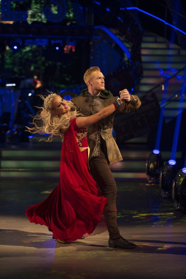 SCD week 3, 2016. Greg Rutherford & Natalie Lowe. American Smooth. Credit: BBC / Guy Levy