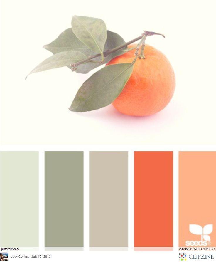 Color Palettes || #DesignSeeds #peaches #colorpalette #colorscheme #designinspiration #georgia #coral #sage