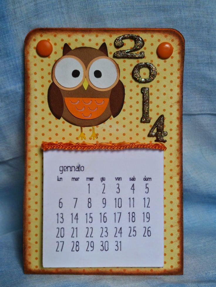 Chichi's Scrap: Calendario gufettino