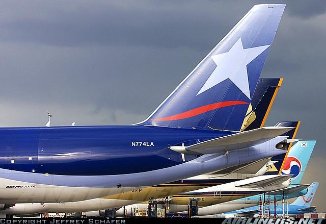 Lan Cargo B 777 Tail